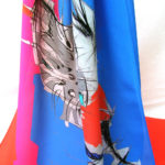 Dancing Cone Long Silk Scarf