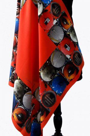Cosmic Tankers Scarlet Silk Scarf